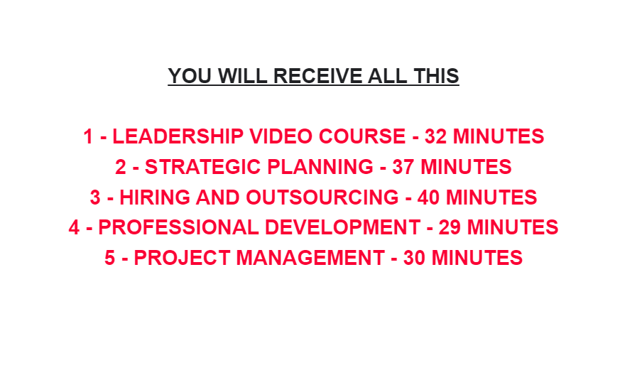 Video Training Courses For Businessmen - Excellent Material RECEIVE NOW - NO CDs