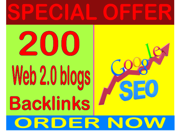 Top SEO Service - Boost Site Alexa Rank 200 with web 2.0 Blogs backlinks