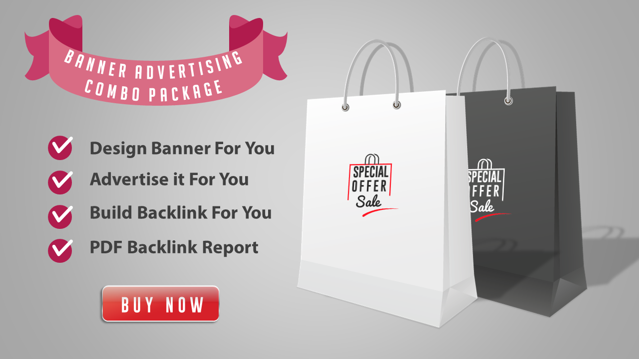 Combo Pack - Design Banner + Advertise it + Backlink Building