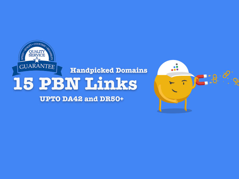 15 handmade tested PBN with 2 dofollow backlinks