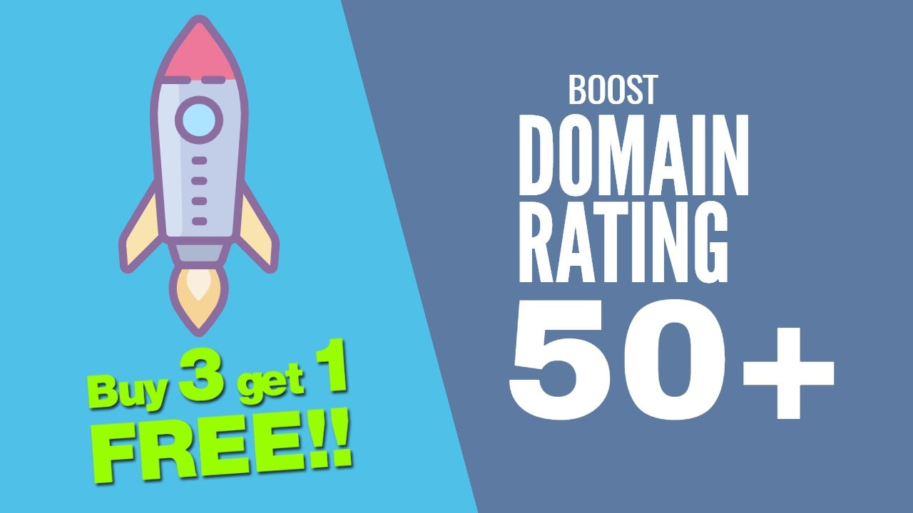 I will increase your domain rating DR 50 plus with seo authority backinks