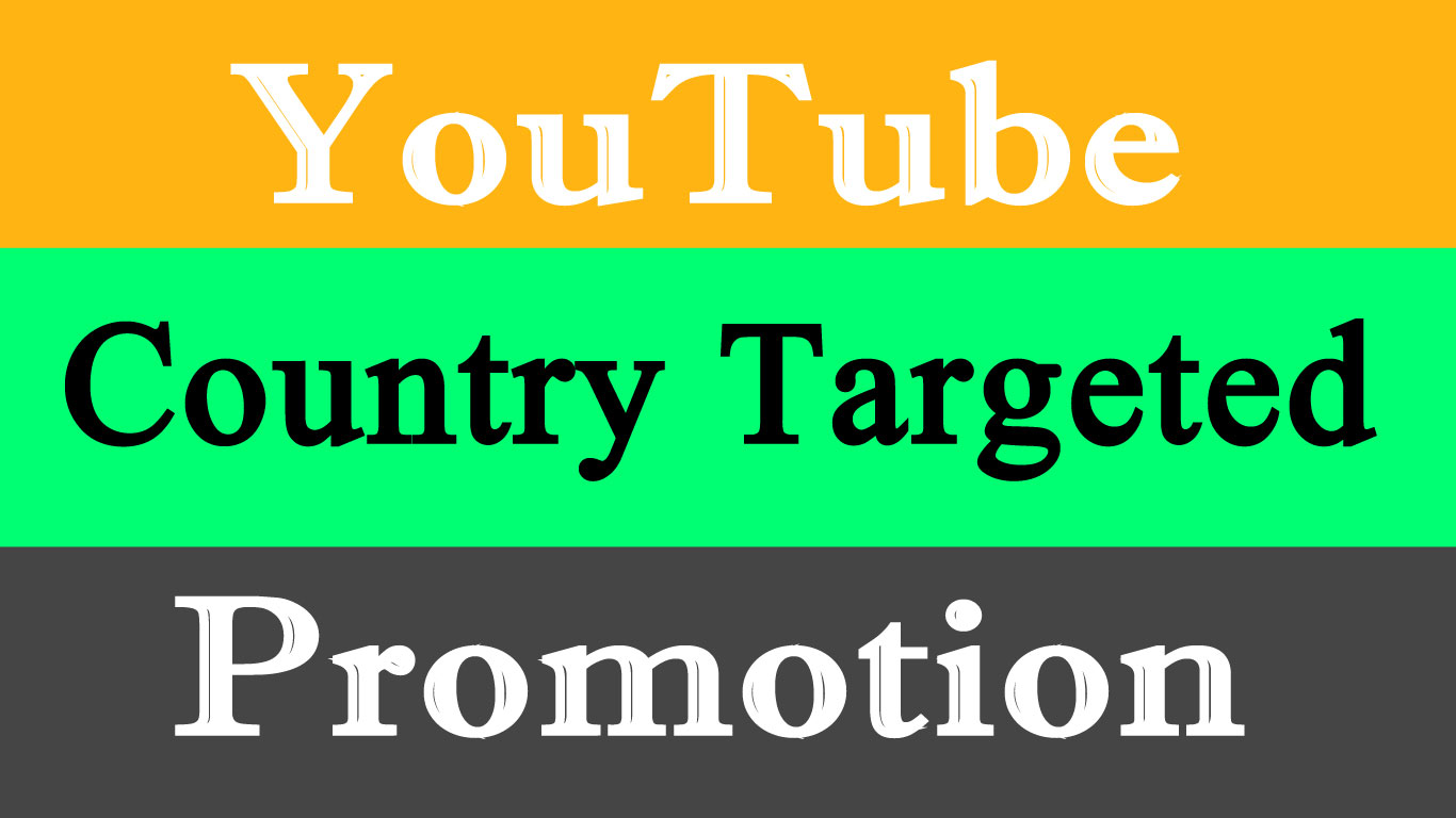 Targeted YouTube video Promotion in USA,  UK,  Italy,  Australia,  CANADA Etc with Real Marketing