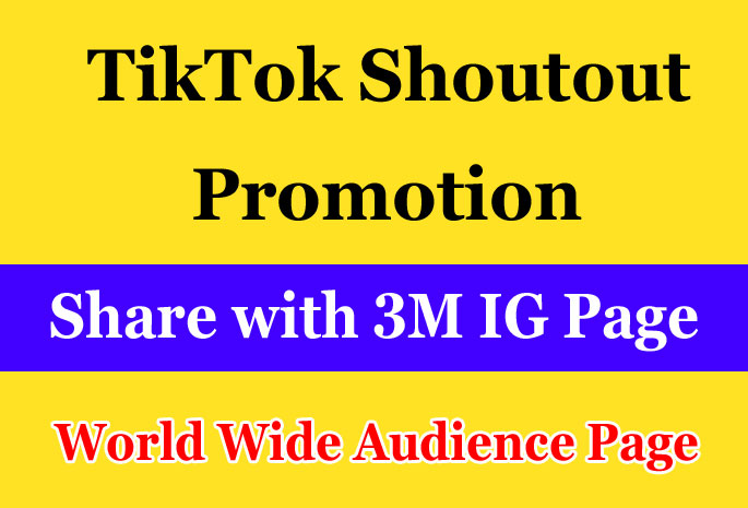 TikTok video account Marketing on my 3m Page and Increase Real Audience