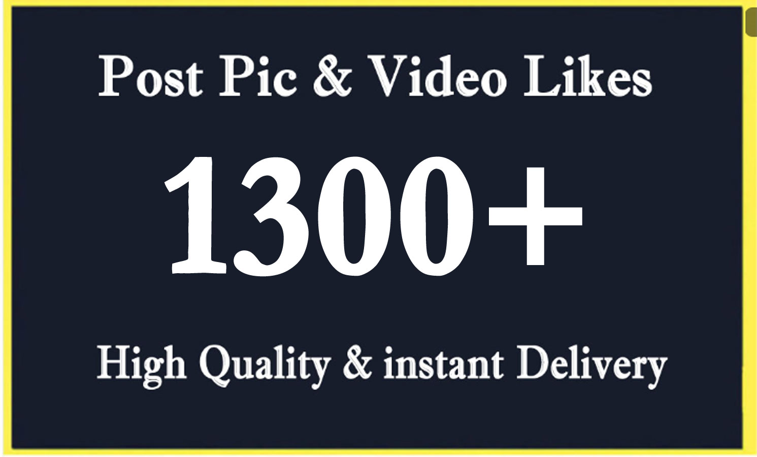 Instant 1300 High Quality Social Post Pictures video Promotion and Marketing