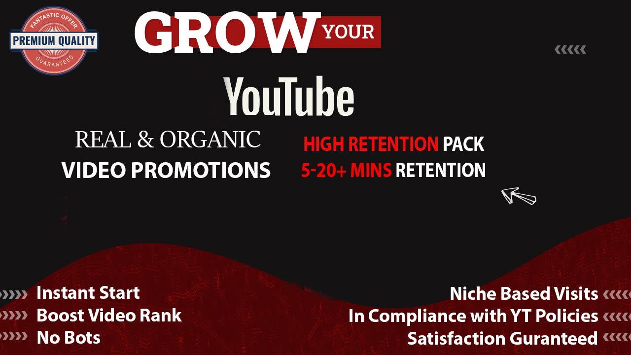 YouTube High Retention Video Promotion Package