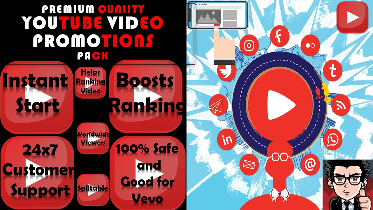 HIGH SPEED Real YouTube Video Promotions Instant Start Youtube Marketing Service