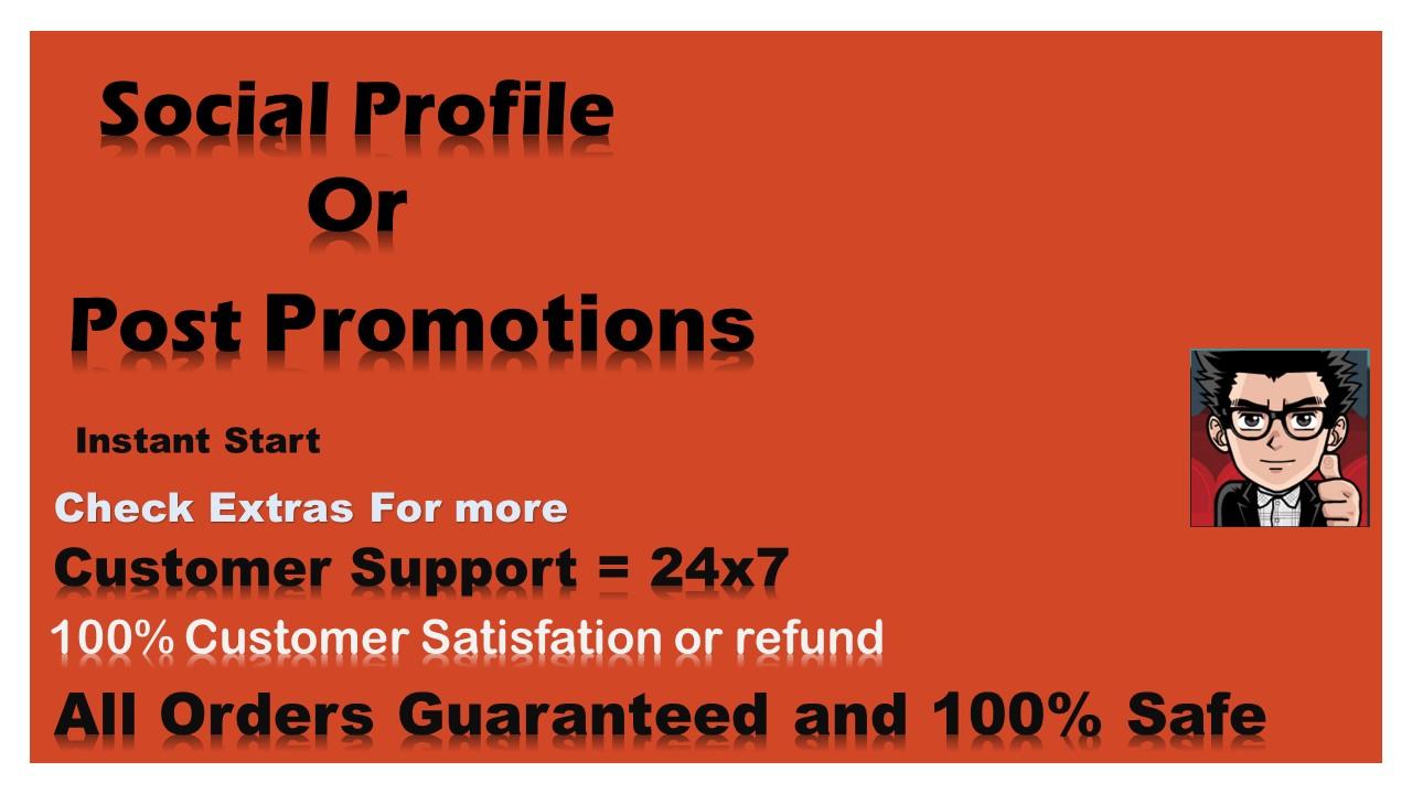 Social Profile Or Social Post Booster Pack