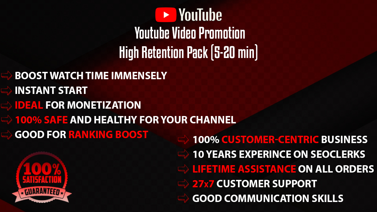 YouTube Video Promotion Package