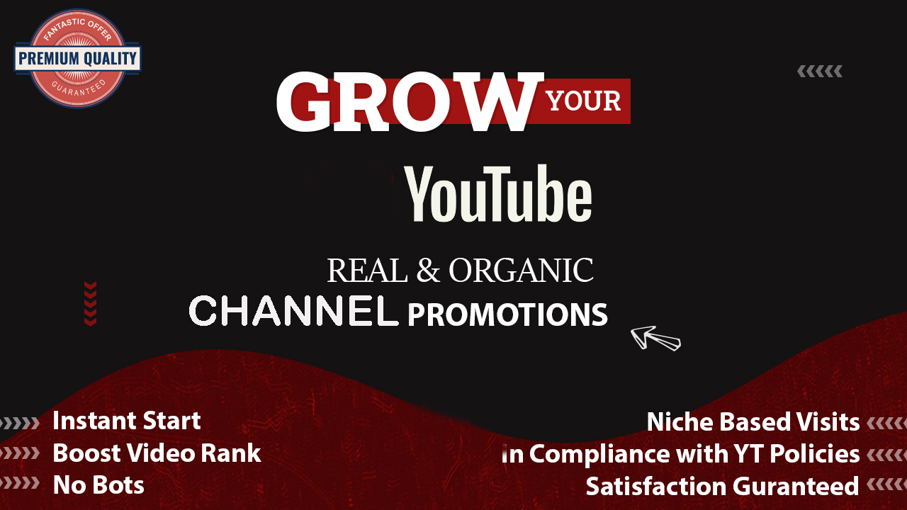 Real Fast Channel Promotions Pack Real and Genuine Audience