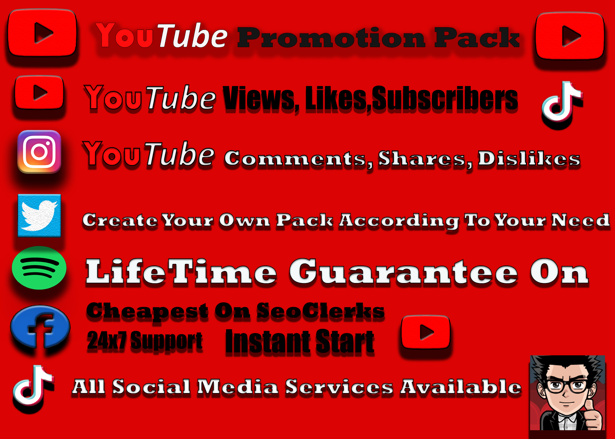Organic YouTube Video Promotions. 1k Instant Start NON DROP Lifetime Guarantee