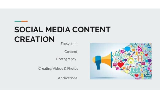Social media post content writing