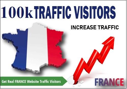 100000 Real FRANCE Website Traffic Visitors
