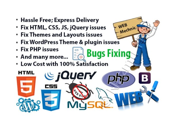 Solve any web site Bug Fixing issues solve perfectly