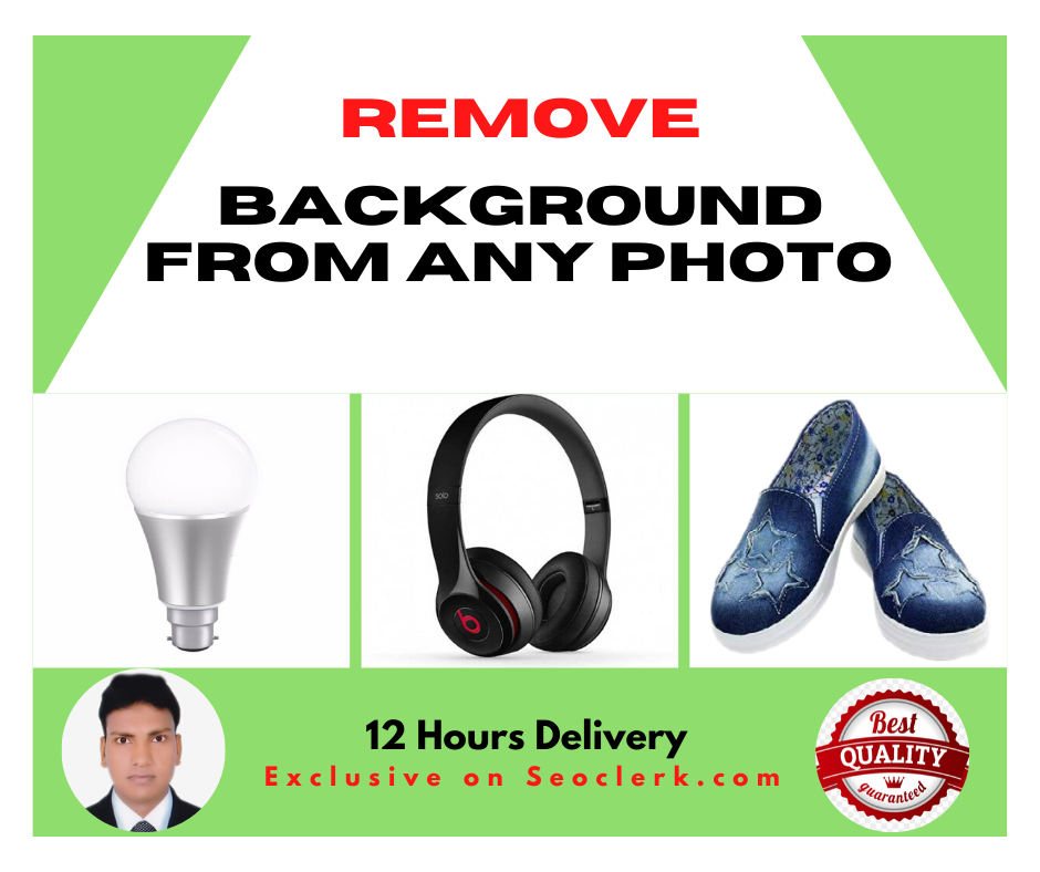 I will Remove Background Image in less than 24 Hours