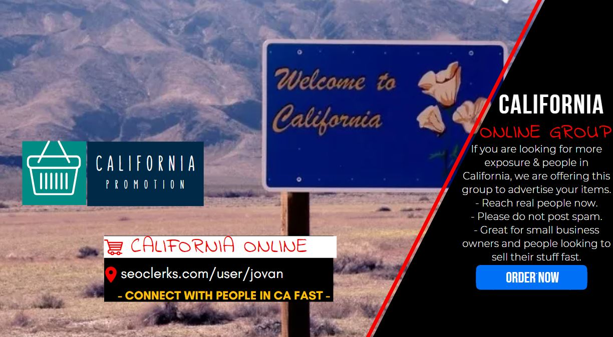Get Californian traffic campaign and Shoutout promo to 10K people in CA with Social Signals