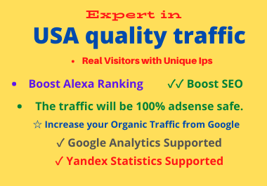 I will boost website ranking with USA quality traffic