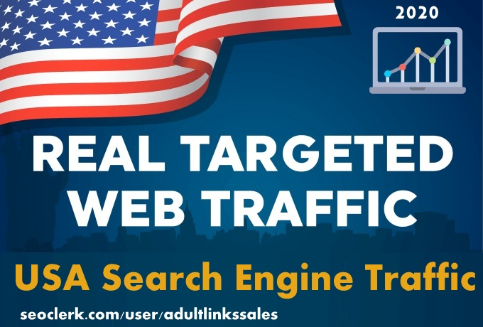 Send 7k-300k USA keyword targeted organic traffic from search engine