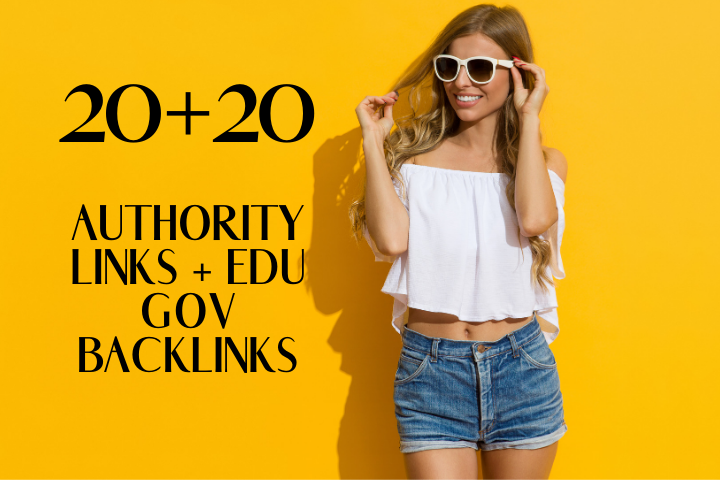 Do 20 Authority Backlinks With 20 EDU Backlinks For SEO Ranking