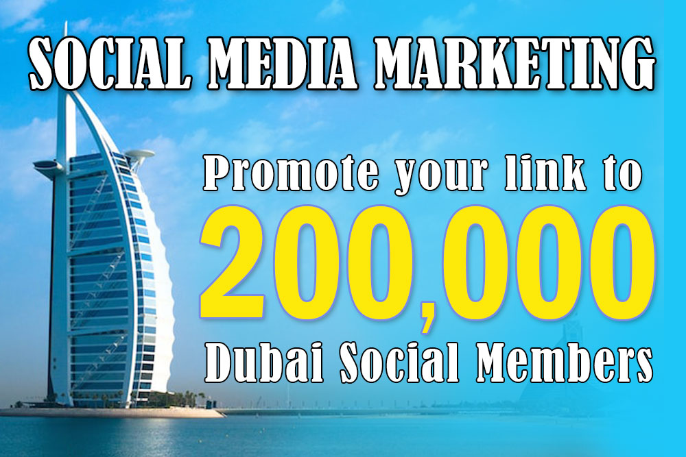 I will promote your product to my 200k dubai members