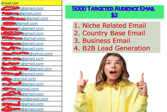 Give 5000 Email List For Your Targeted Audience