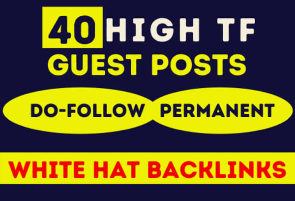 I will 40 posts on TF 25 guest-post sites with handwritten content for google ranking