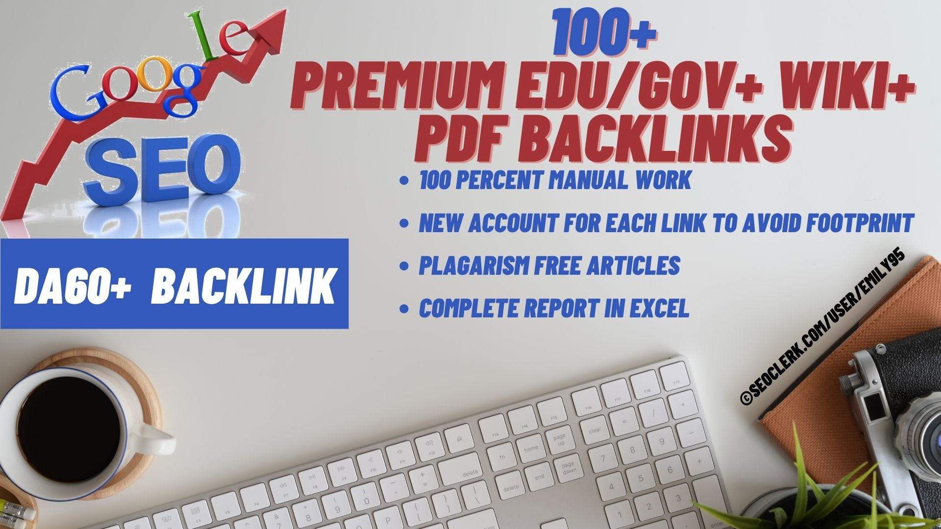 Limited 100+ Power Backlinks from DA60+, Edu/Gov, PDF, Wiki Sites- All High DA PA TF CF sites