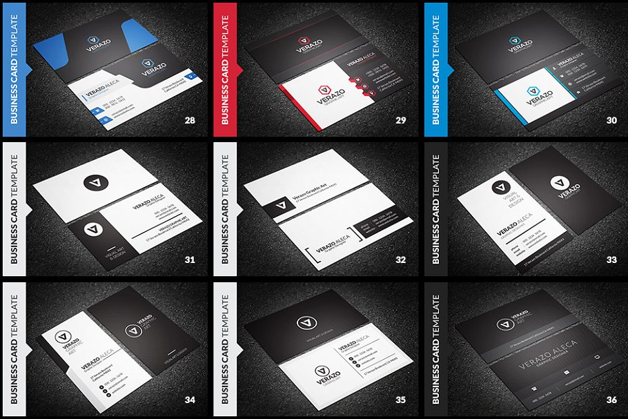 Get 150 individual templates Business Card Design Print Ready