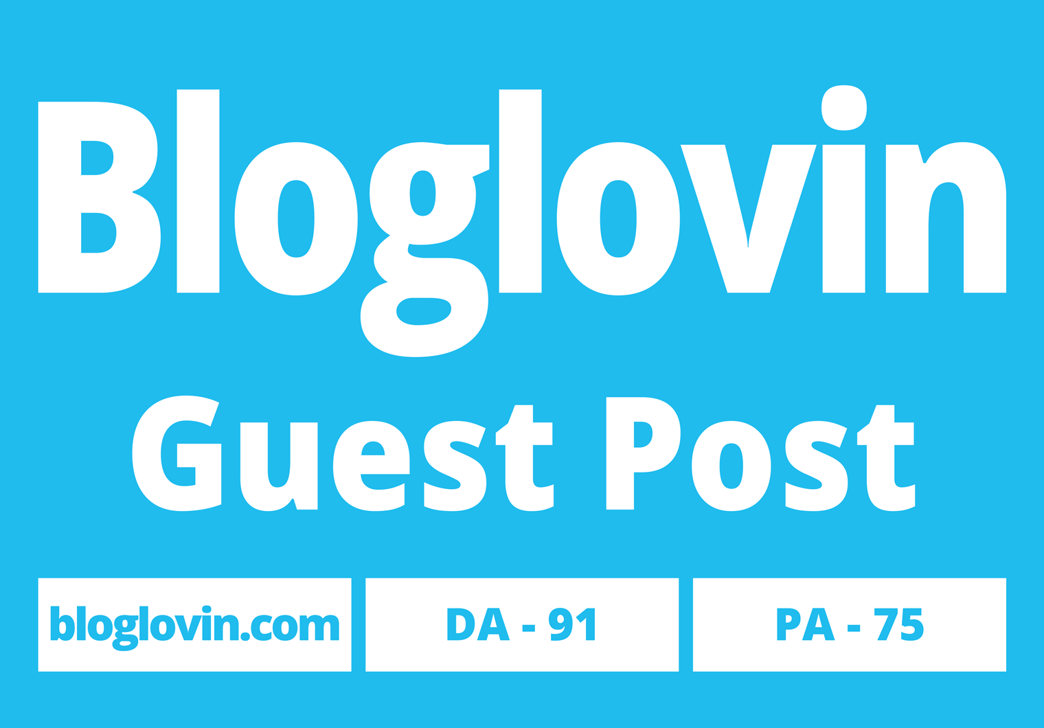 I will publish 2 Guest Posts with your website on Bloglovin