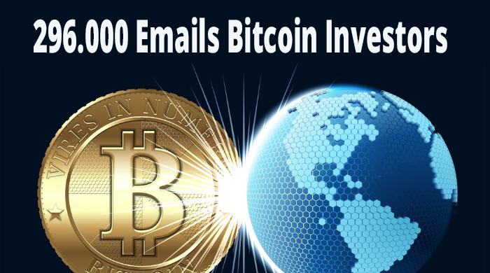 296,000 email list of bitcoin users investors