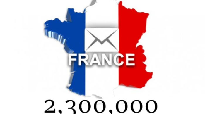 give you 2.3 million france updated emails,  79k with names