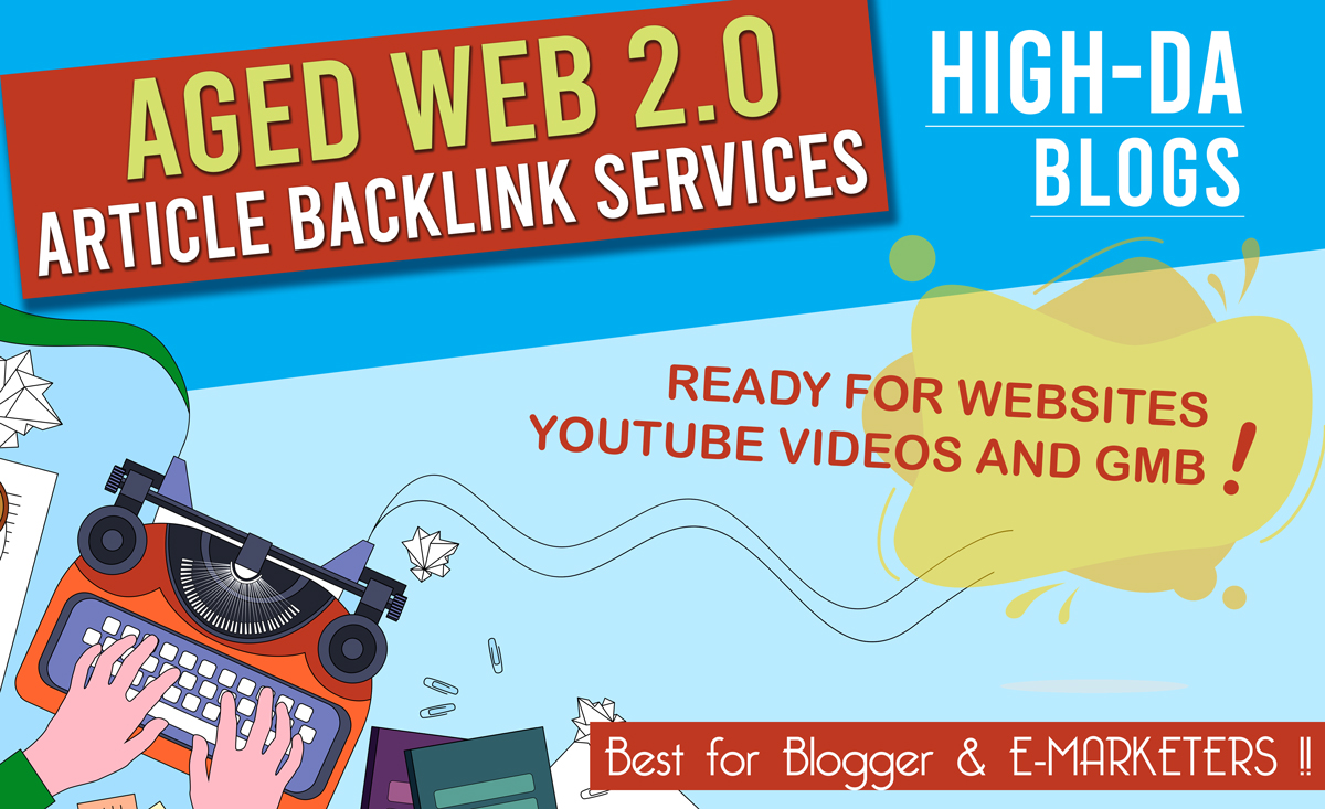 I Will Create 200 Web 2.0 Aged PBN Backlink Articles