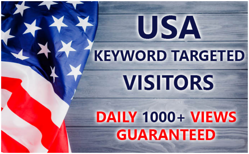 6000 PREMIUM Low Bounce Rate REAL USA traffic,  +3 min stay time guaranteed