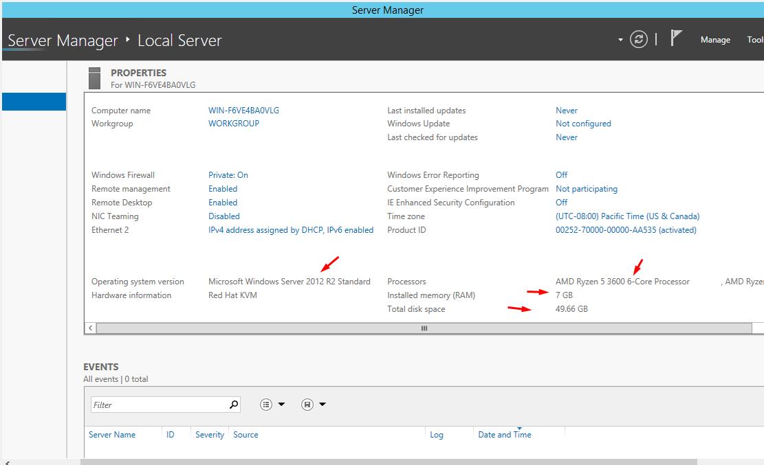 Windows VPS Remote Desktop 6 Core 4 Go Ram No Suspend