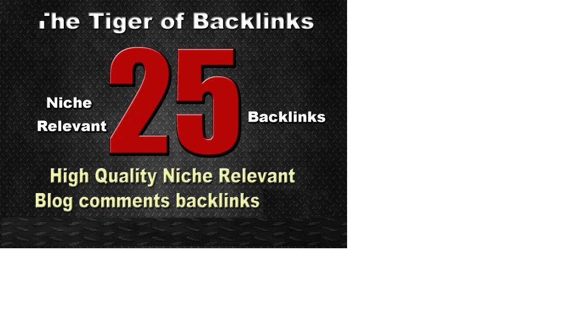 do 25 high quality niche relevant backlinks. do 25 high quality niche relevant backlinks