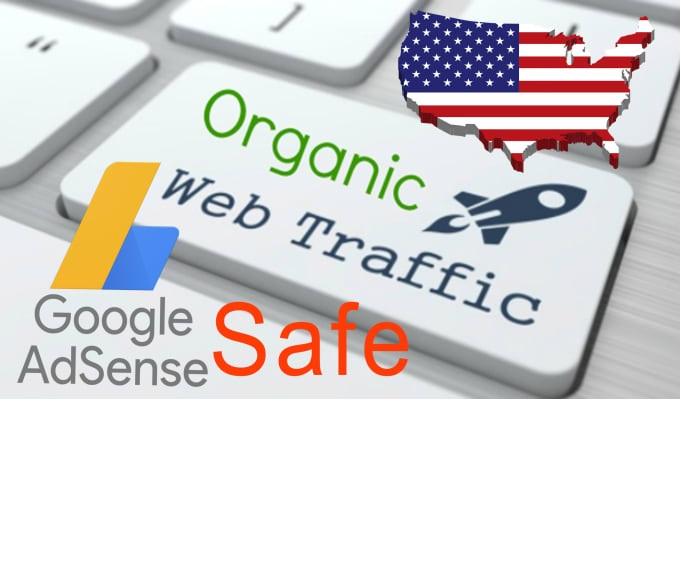 send keyword target organic website traffic from usa, adsense safe