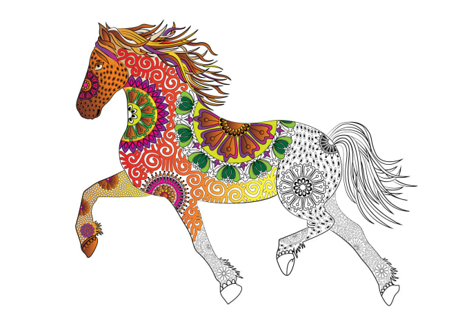 vector drawing zentangle Adult coloring book illustration
