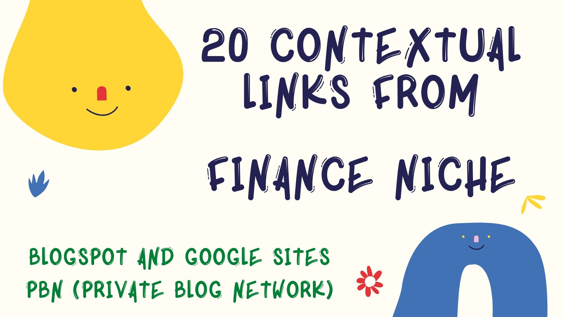 20 PBN Links from Finance Blogs and Websites