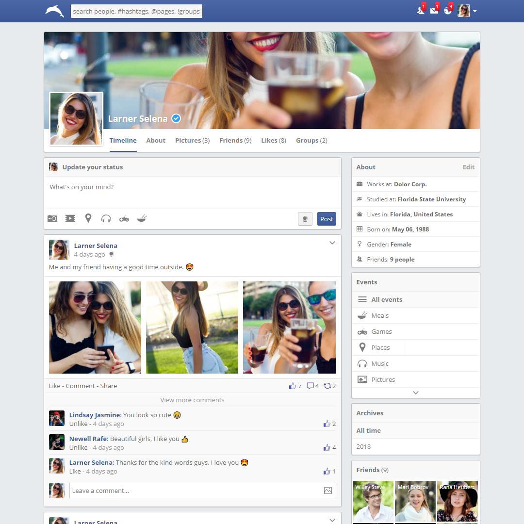 Design full Social Media Dynamic Website + Admin Panel - Ready to use