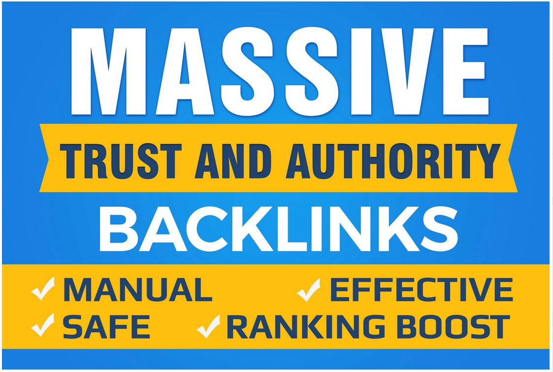 Boost your Google SEO with Manual High Authority Backlinks trust links