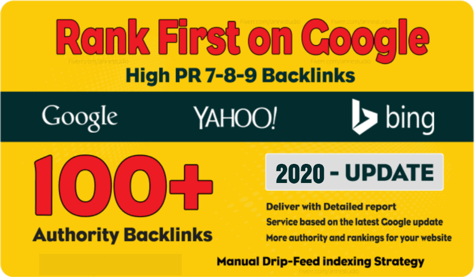 100 Manual Dofollow High PR backlinks with High DA