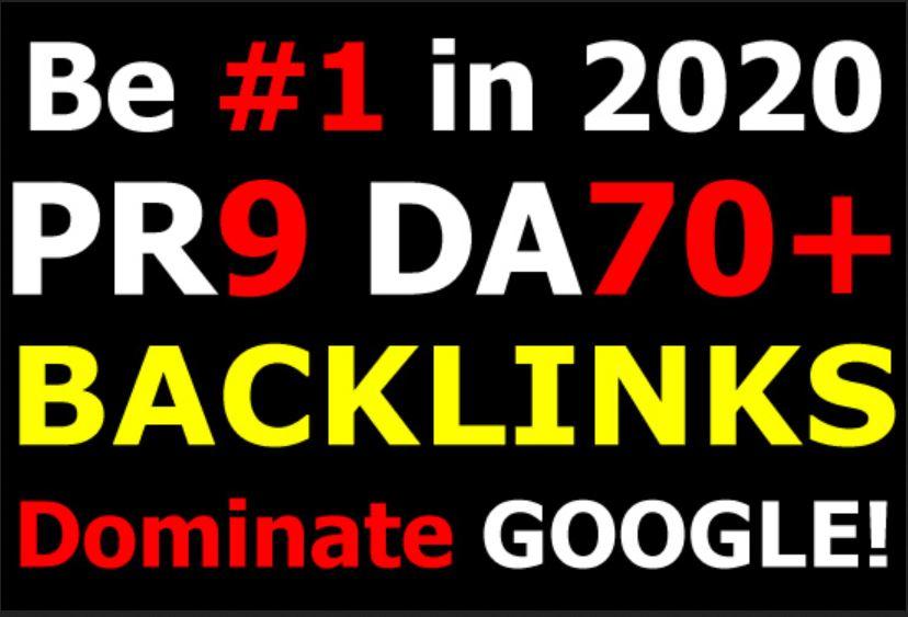 5 DA 70+ PR9 Backlinks to Boost your rankings in Google