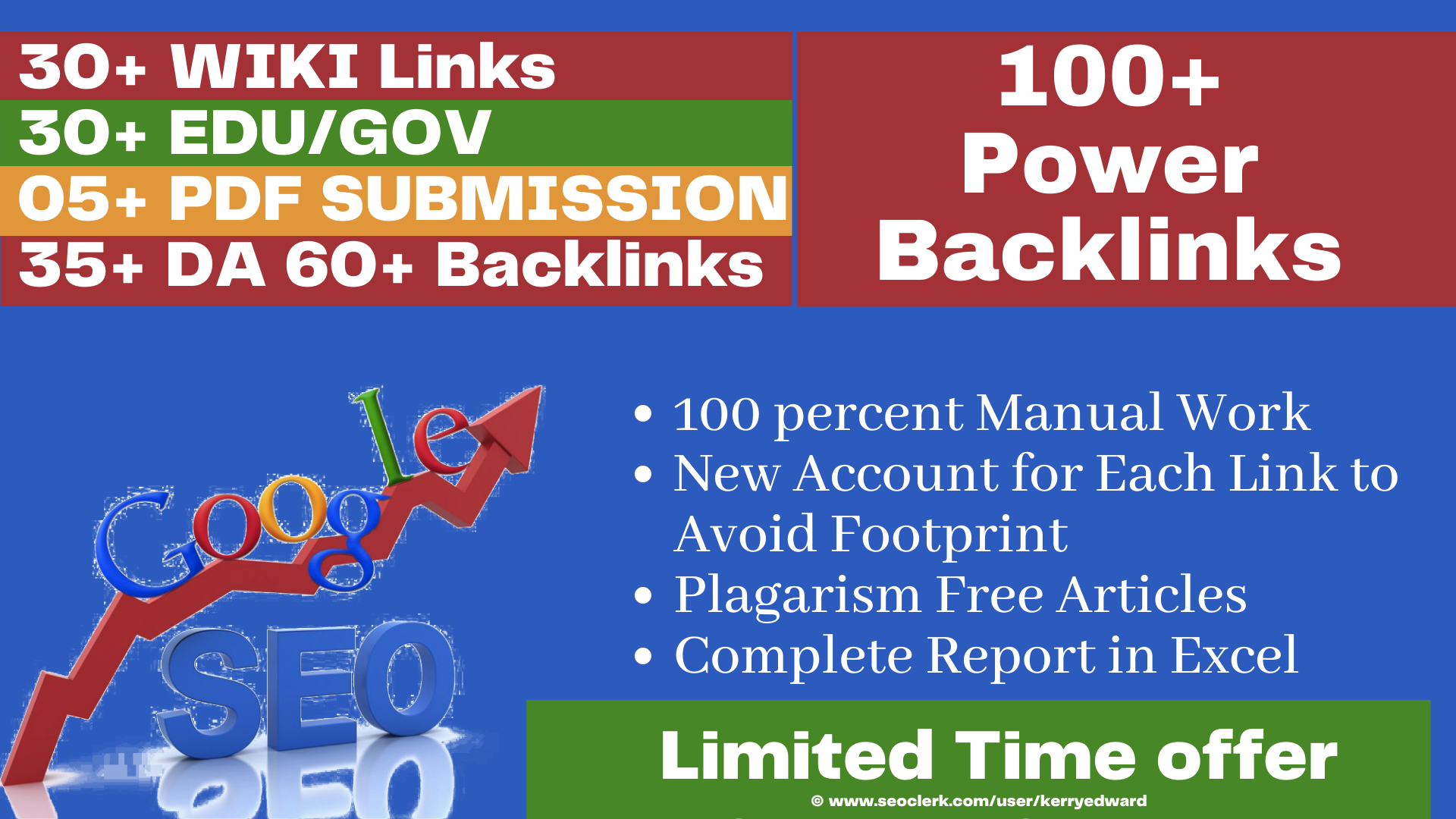 Ran 1st on Google With Our Manual 100+ Power Backlink from DA60+,  Edu/Gov,  Wiki,  PDF submission