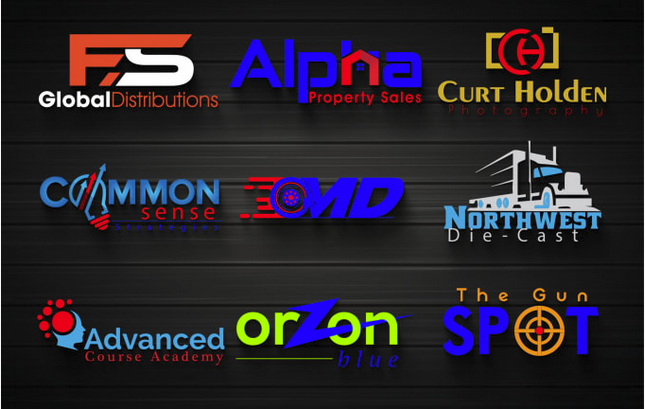 design 4 logo versions and proffesional
