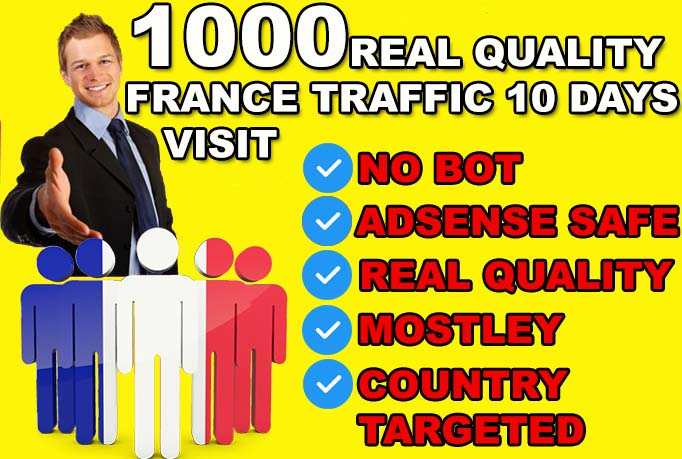 DRIVE 10000 FRANCE Real quality Visitors To Your Website