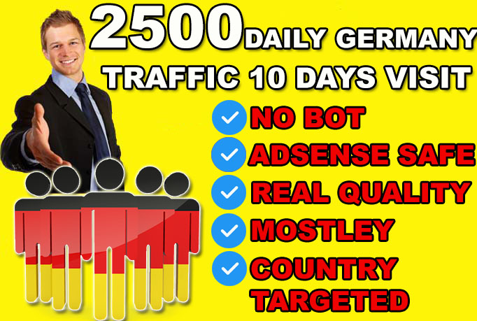 send Germany targeted website or blog traffic visitors.