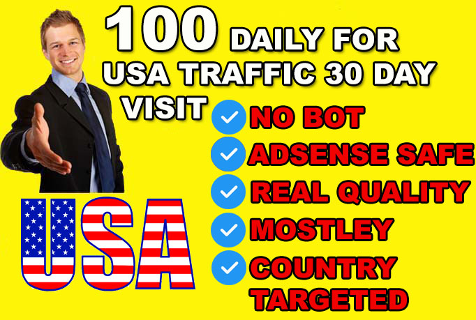 send keyword targeted usa organic traffic with low bounce rate