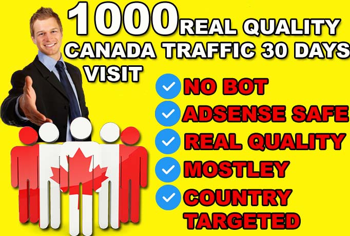 DRIVE 30000 CANADA Real quality Visitors To Your Website