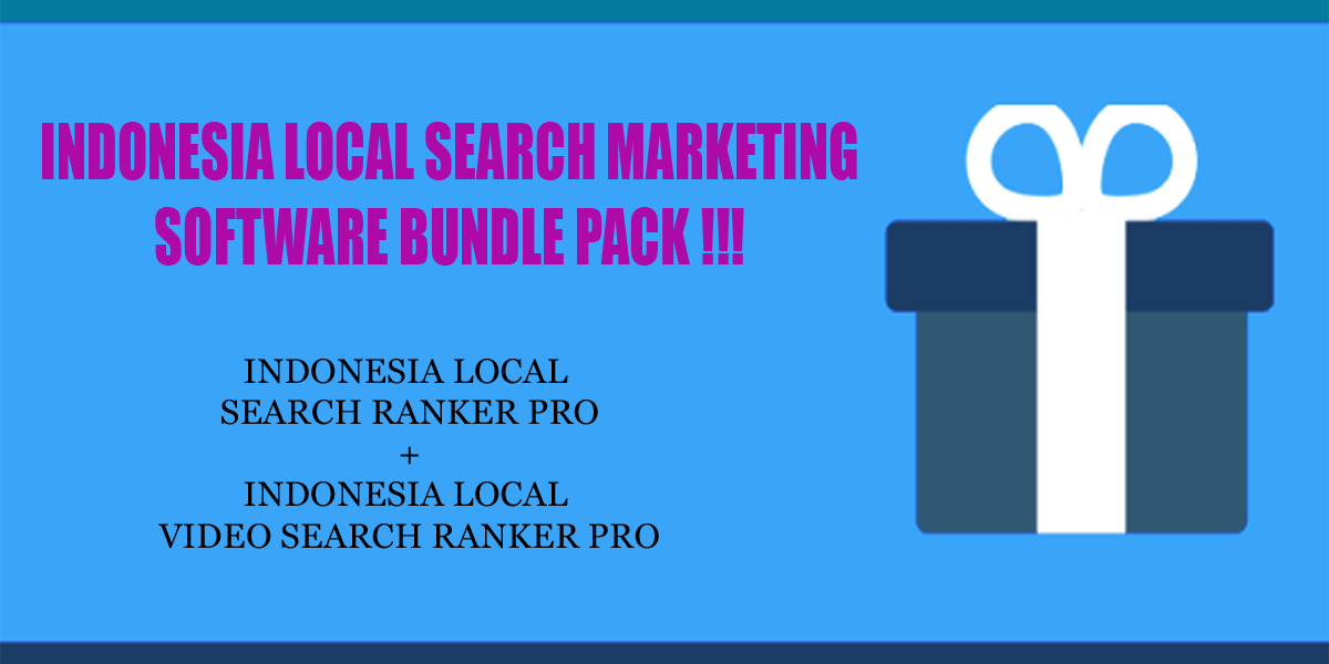 Indonesia local search ranker software bundle pack