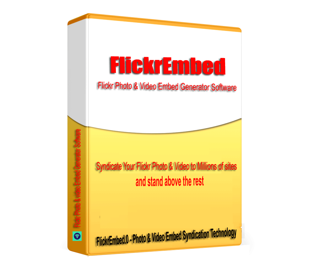FlickrEmbed - Flickr Photo & Video Embed Syndication Software V1.0.1