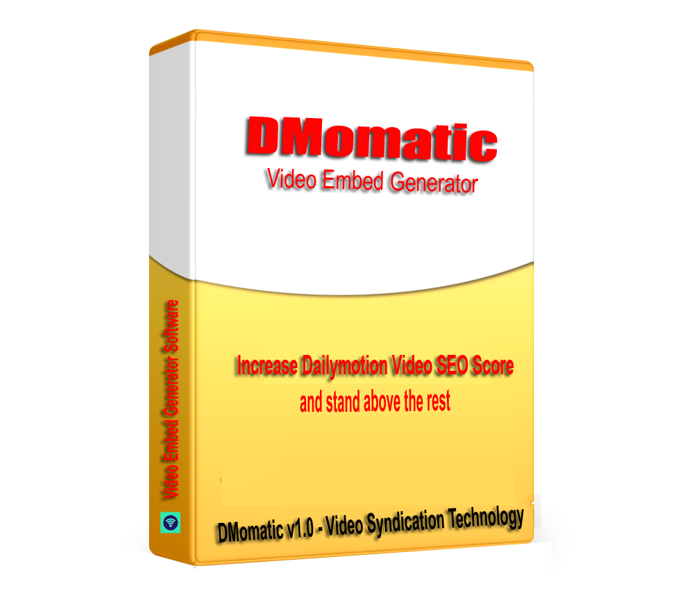 DMomatic - DailyMotion Video Syndication & SEO Embed generator software